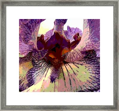 Pretty In Purple Framed Print by Sally Simon