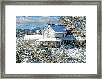 Framed Print featuring the photograph Pretty In White by Kenny Francis