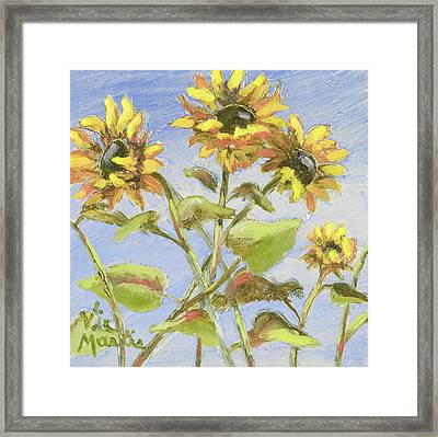 Framed Print featuring the painting Pretty In Yellow II by Vic  Mastis