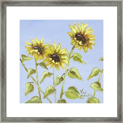 Framed Print featuring the painting Pretty In Yellow by Vic  Mastis