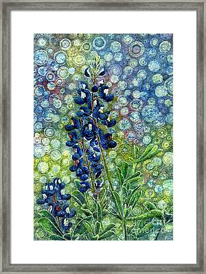 Pretty In Blue Framed Print by Hailey E Herrera