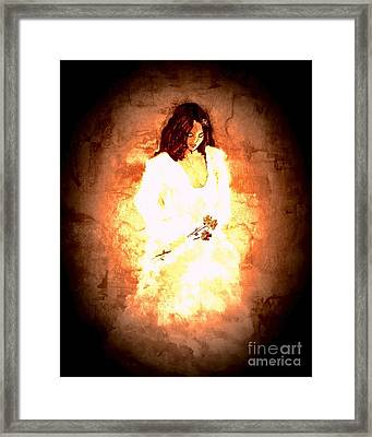 Framed Print featuring the painting Pretty Lady by Denise Tomasura