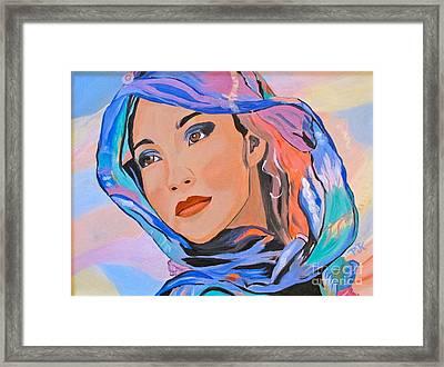 Pretty Lady Framed Print by Phyllis Kaltenbach