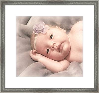 Pretty Little Girls Framed Print by Donna Brown