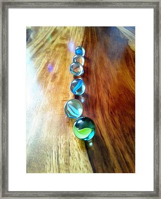 Pretty Marbles All In A Row Framed Print