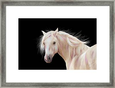 Pretty Palomino Pony Painting Framed Print