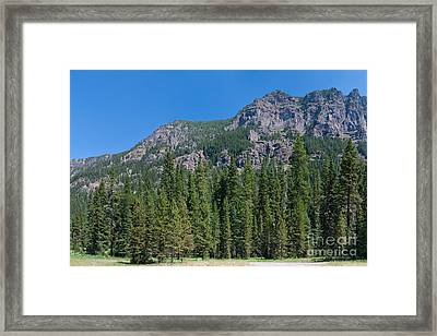 Framed Print featuring the photograph Pretty Parking Lot by Charles Kozierok