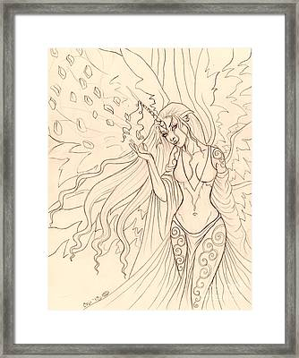 Pretty Pegasus Sketch Framed Print by Coriander  Shea