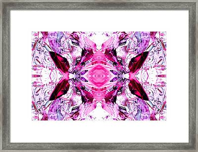Pretty Pink Weeds Abstract  3 Framed Print