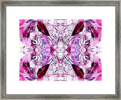 Pretty Pink Weeds Abstract  4 Framed Print