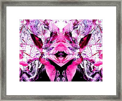 Pretty Pink Weeds Abstract  5 Framed Print