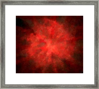 Pretty Scarlet Framed Print by Lourry Legarde