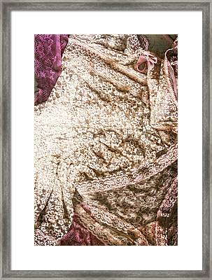Pretty Things 3 - Lingerie Art By Sharon Cummings Framed Print by Sharon Cummings