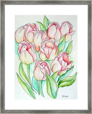 Pretty Tulips Framed Print