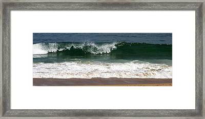 Pretty Wave Framed Print by Eunice Miller