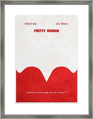 Pretty Woman Framed Print by Ayse Deniz