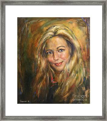 Pretty Woman Framed Print by Michal Kwarciak