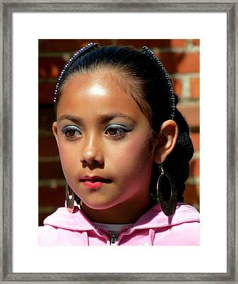 Pretty Young Dancer Girl Framed Print by Jeff Lowe