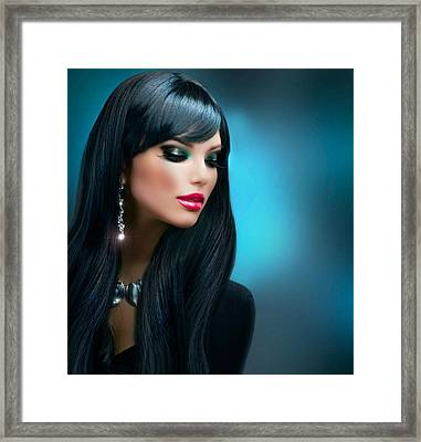 Pretty Young Thing Framed Print by Karen Showell