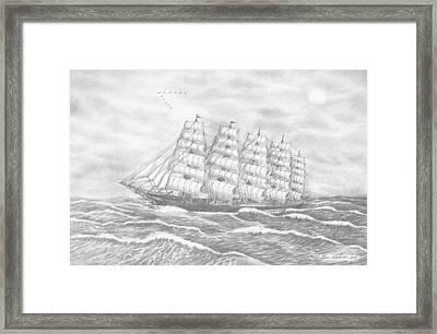 Preussen-ship Framed Print