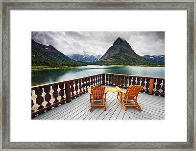Priceless Glacier View Framed Print by Mark Kiver