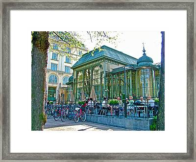 Pricey Restaurant On The Esplanade In Helsinki-finland Framed Print