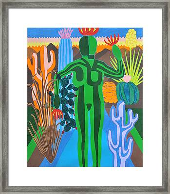 Framed Print featuring the painting Pricked by Erika Chamberlin