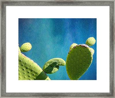 Prickly Pear Art Framed Print by Vicki Jauron