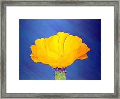 Prickly Pear Flower Framed Print by Karyn Robinson