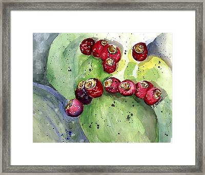 Prickly Pear Fruit Framed Print by Marilyn Barton
