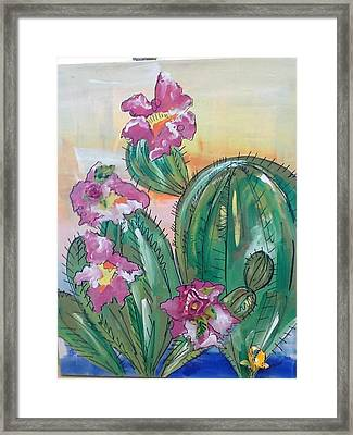 Prickly Pear Framed Print by Karen Carnow
