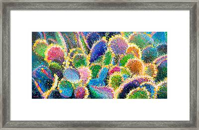 Prickly Pear Party II Framed Print by Charles Wallis