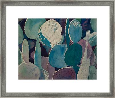 Prickly Pear Framed Print by Terry Holliday