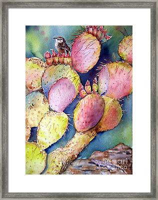 Prickly Perch Framed Print by Patricia Pushaw