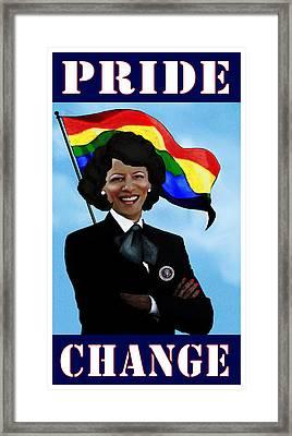 Pride And Change Framed Print
