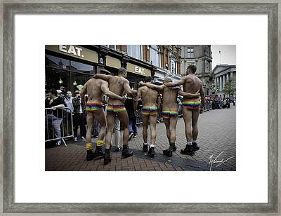 Pride March Framed Print by Max CALLENDER