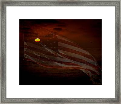 Pride Of Country Framed Print