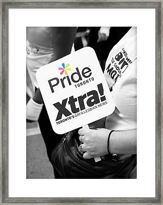 Pride Toronto Framed Print