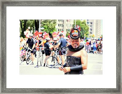 Pridely Smiling Framed Print