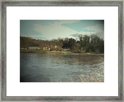 Priest House Hotel And River Trent, A Century Ago This Framed Print by Litz Collection