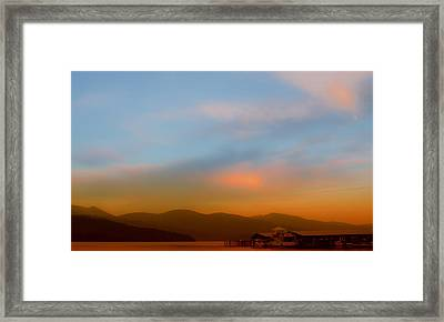 Priest Lake At Dusk Framed Print by David Patterson
