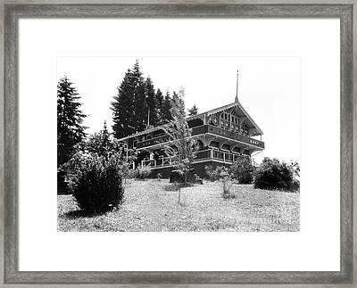 Priest Point Park Chalet Summer 1940 Framed Print