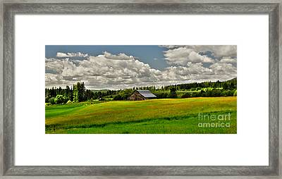 Priest River Barn Framed Print