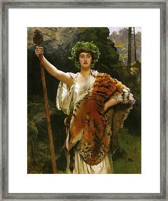Priestess Bacchus Framed Print