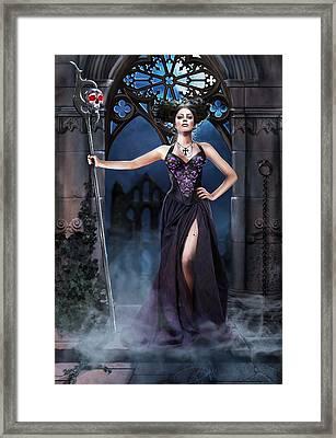 Priestess Framed Print by Drazenka Kimpel