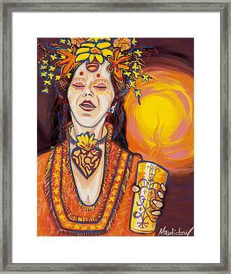 Priestess Framed Print by Mardi Claw