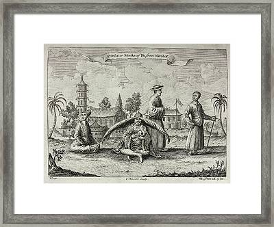 Priests Or Monks Of Fo Framed Print by British Library