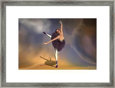 Prima Ballerina Georgia Attitude On Pointe Pose Framed Print by Andre Price