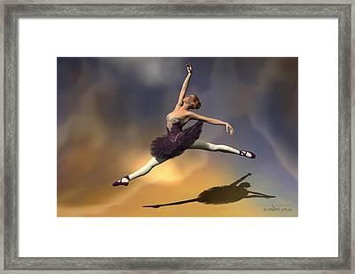 Prima Ballerina Georgia Grand Jete Pose Framed Print by Andre Price