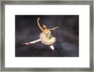 Prima Ballerina Heaven Jete Leap Pose Framed Print by Andre Price
